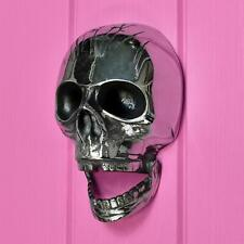 Chrome Brass Deluxe Skull Door Knocker (Jaw Droppingly Original)