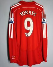 LIVERPOOL ANFIELD 2006 2007 2008 HOME SHIRT JERSEY LONG SLEEVE #9 TORRES ADIDAS