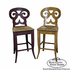 Biedermeier Style Pair of Set of 2 Counter Bar Stools