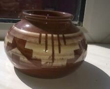 Vintage Small Brown & White  Pottery bowl No Markers Mark