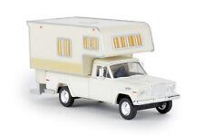 Brekina 19830 Jeep Gladiator a Camper, White, Car Model 1:87 (H0)