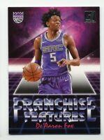 2018-19 Panini Donruss DE'AARON FOX Rare FRANCHISE FEATURES #26 Sacramento Kings