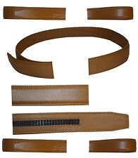 Men's Leather belt strap Automatic sliding buckle Auto-lock Strap only 26 to 50""