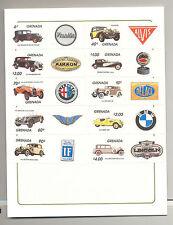 Grenada #1159-1169 Automobiles 10v & 1v S/S Imperf Proof Mounted in Folder