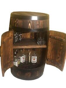 Holz-Fass Bar mit Türen, fassbar, bar, holz fass, weinregal, weinfass