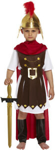 Boys Roman General Soldier Warrior Kids Fancy Dress Costume Outfit Greek BookDay