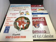 Campbell's Soup Collector's Calendars 1984 - 1996 Set of 13 Campbells Soup Kids