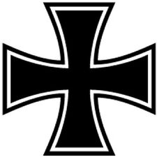 IRON CROSS VINYL CAR I PAD LAPTOP WINDOW WALL BUMPER STICKER AUTO