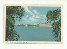 ST. CLAIR RIVER, SARNIA, ONTARIO, CANADA VINTAGE POSTCARD