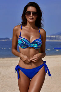 "Trend Bikini "" Curacao navy/türkis "" Gr. 36 ( S ) CUP B"