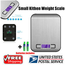 Digital Kitchen Scale 11lb/0.05 oz 5KG/1G LCD Stainless Steel Food Diet Weigh