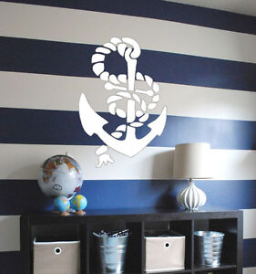 Anchor STENCIL Wall Interior Decor Reusable Nautical Template Painting Craft DIY
