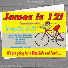 Bicicleta De Paseo En Bicicleta Chicos Niños Childrens Invitaciones de Fiesta de Cumpleaños X 12+ Envs H1050