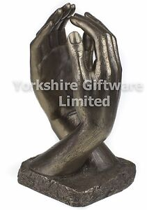 Cathedral Arched Hands Sculpture Bronze Anniversary Gift For Husband or Wife New