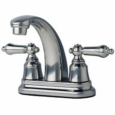 "RV/Mobile Home Bathroom Vanity Sink 4"" Centerset Lavatory Faucet Brushed Nickel"