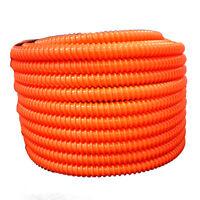 "Wire Loom Flexible PVC Split Corrugated Tubing UV Rated 1//2/"" x 50/' Black"