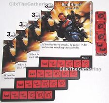 4x RED HOOD: JASON TODD 29/124 Batman Dice Masters DC