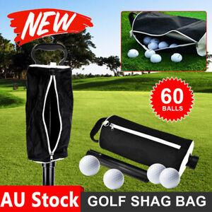 Golf Ball Shag Bag 60-70 Balls Practice Pick Up Holder Receiver Tube Collector