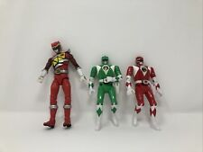 Scg Power Rangers Morph Action Figure Lot Of 3 Dino Red and Green 6� 7�