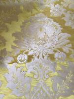 Scalamandre Silk Satin Damask Gold Fabric Upholstery Drapery  10 Yards