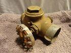 "Vintage BRASS Fire Hydrant Splitter Hose Water Thief PMS Co Seattle PA-271 2"""
