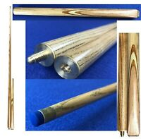 """Hand made  2 Piece Splices Snooker Cue 57"""" Fully Ash Shaft & Butt 9mm Tip SS004"""