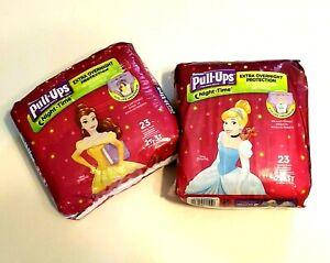 Huggies Pull Ups Training Underwear 2T-3T 23 Count Disney Princess Lot of 2