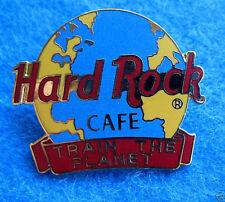 HRC INT STAFF *TRAIN THE PLANET* EARTH AWARD RED BAR GLOBE Hard Rock Cafe PIN