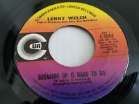 LENNY WELCH Breaking Up Is Hard To Do / Get Mommy To Come Back Home '69 SOUL NM-