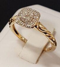 10K Gold Halo Diamond Cluster Ring .25CTW 1/4 CTW Size 7  -  2.1 GRAMS 10K