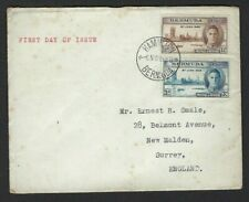 VICTORY : 1946 BERMUDA pair on plain First Day Cover