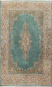 10x14 Vintage Kirman Hand-knotted Area Rug Medallion Oriental Wool Large Carpet