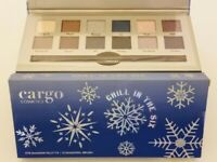 New Cargo Cosmetics Chill In The Six Eyeshadow Palette 12 Colors + Shadow Brush