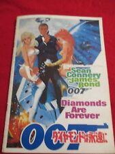 JAMES BOND DIAMONDS ARE FOREVER ORIG JAPAN PROGRAM SEAN CONNERY GREAT PHOTOS