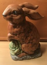 "Vintage Collectible Country 9 1/2"" Easter Bunny  Rabbit Statue Figurine Decor"