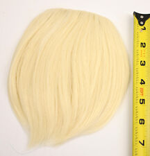 7'' Short Clip on Bangs Flaxen Blonde Cosplay Wig Hair Extension Accessory NEW