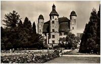 Bad Säckingen am Rhein alte Postkarte 1954 datiert Partie im Schloßpark Personen