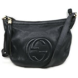 Gucci Shoulder Bag  Black Leather 840239