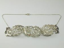 Caviar label vintage sterling silver with chain dated 1975 37.8 grams Beluga