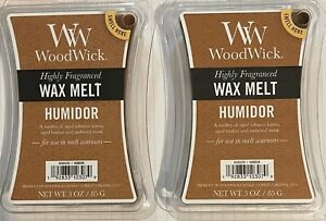 BUNDLE x2 WoodWick Humidor Highly Fragranced Wax Melts 3oz | Sealed