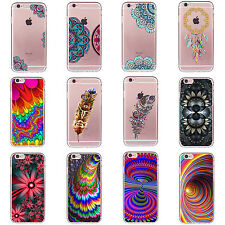 Funda Carcasa Pattern TPU Soft Silicone Case Cover For iPhone 5s SE 6s 7 Plus