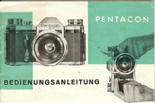 Instruction User's Manual Pentacon F German