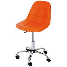 Chaise pitovante Lier, chaise de bureau, siège baquet, similicuir ~ orange