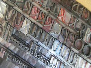Letterpress Lead Type 48 Pt. Coronet    C12