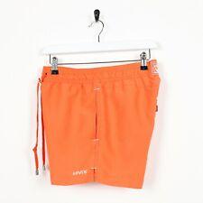 Vintage LEVI'S Small Logo Swim Shorts Orange small s