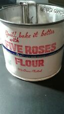VINTAGE FLOUR SIFTER ADVERTISING FIVE ROSES FLOUR VERY RARE 1930's ALL ORIGINAL