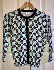 Crown & Ivy Ladies' Cardigan XS Navy Red Aqua Design $59 New