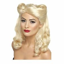 Mesdames Blonde 40 S victoire Roll Pin Up Fille Perruque rétro Wartime Sweetheart Dunkerque