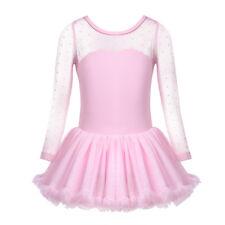 Kids Girls Ballet Leotard Dress Ballerina Dancewear Tutu Skirt Dancing Costume
