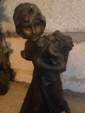 Le Retour des Vendanges Aristide de Ramieri Régule Statue Statuette Vendangeuse